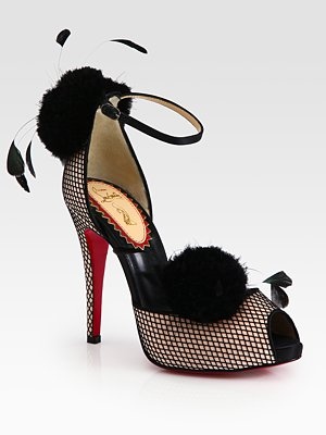 christian-louboutin-satin-shoe-with-fishnet-overlay-and-feathers