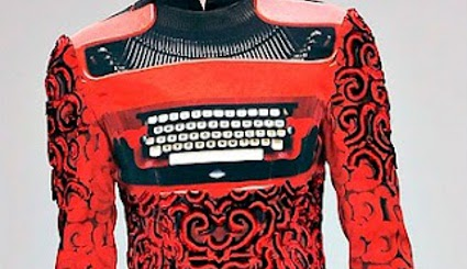 Mary Katranzou typewriter dress closeup